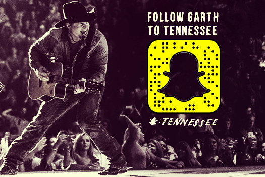 Tennessee Tourism Offers Free Tickets to Garth Brooks Show in Snapchat Launch