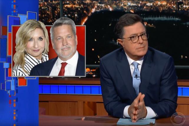 Colbert's take on Trump hiring a 'disgraced Fox News boss'