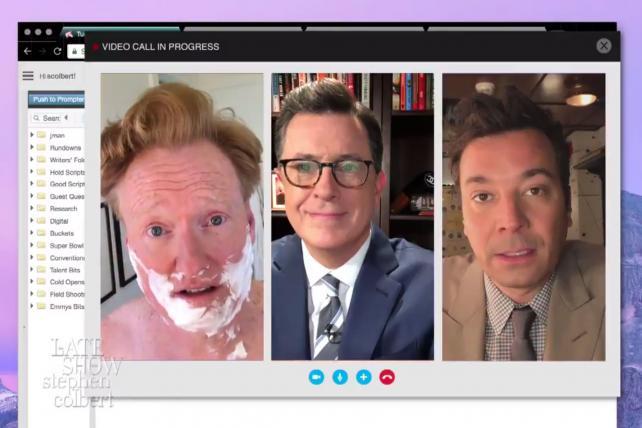 Wake-Up Call: Colbert, Fallon, Conan troll Trump together