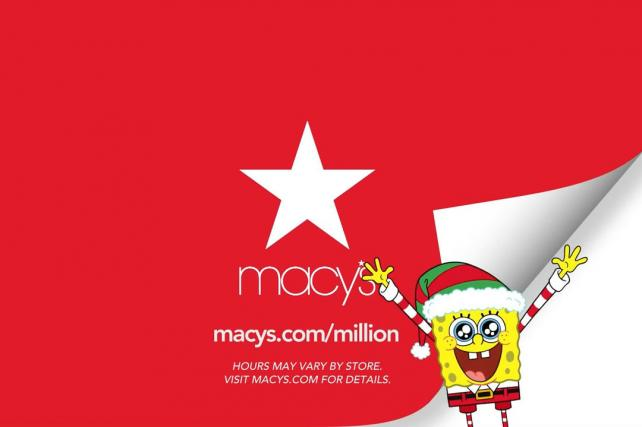Macy's Taps SpongeBob SquarePants for Black Friday Push