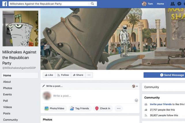Anti-GOP 'Milkshakes' page disappears from Facebook