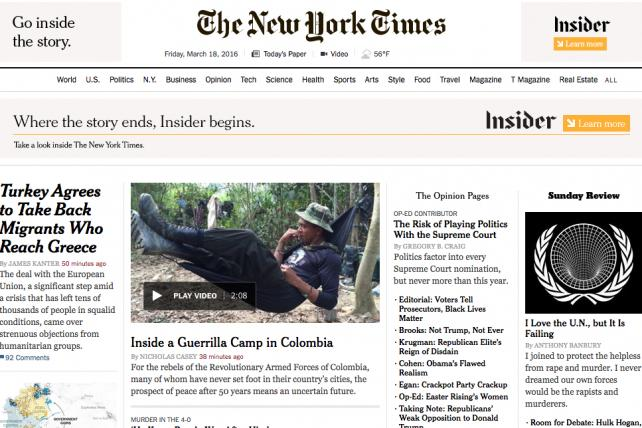 New York Times Still Tweaking Homepage Aggregation Strategy