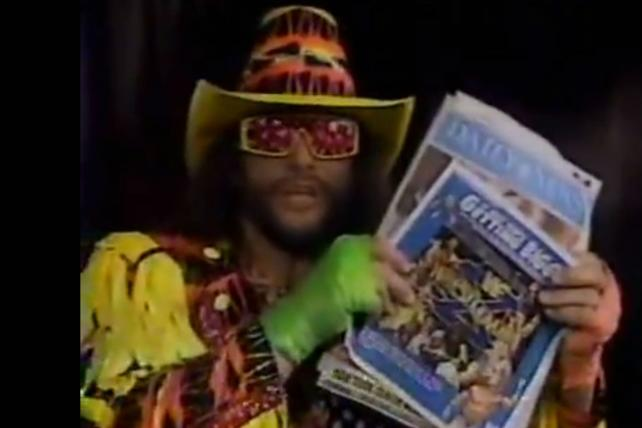 That's So '90s: Watch Macho Man Persuasively Sell the Daily News in This TV Commercial