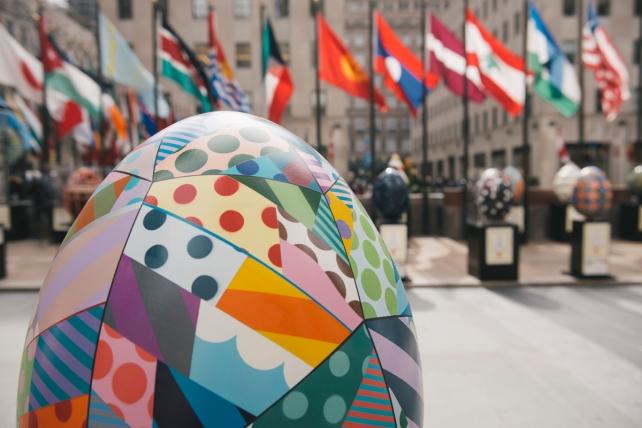 Massive Eggs Land at Rockefeller Center Just in Time for Easter