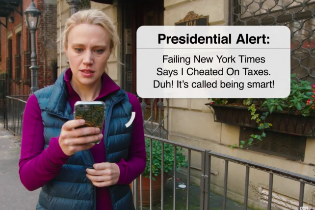 Watch 'SNL' spoof the Presidential Alert system