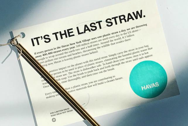 Havas NY ditches straws as a first step for sustainability