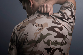 The camouflage patterns on these t-shirts reflect our hidden struggles with mental health