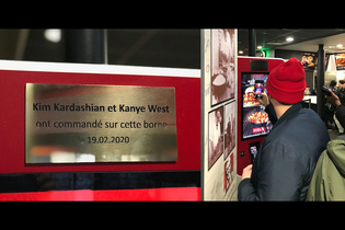 KFC made a memorial honoring Kimye's recent visit to its Paris restaurant