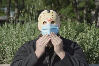 A Jason Voorhees-like slasher becomes poster boy for New York's pandemic safety campaign