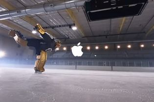 Apple taped iPhones onto hockey gear to capture the action of the game