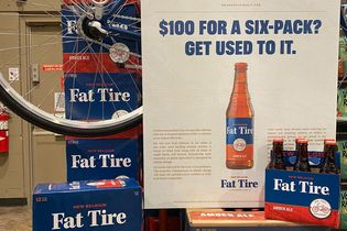Fat Tire charges $100 for its six-packs to prove a point about climate change