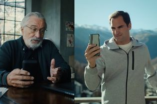 Robert De Niro rejects Roger Federer in Switzerland Tourism campaign