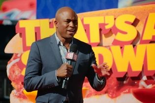 Wayne Brady hosts a pop-up game show in a Sheetz parking lot