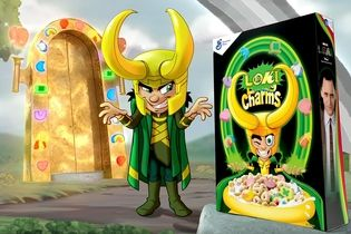 Marvel's Loki takes over the Lucky Charms cereal box
