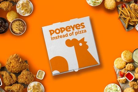 Popeyes stalks pizza home deliveries to promote its own family bundles