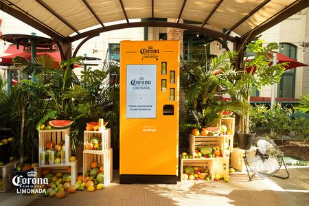 This Corona vending machine dispensed drinks only if you ordered correctly in Spanish
