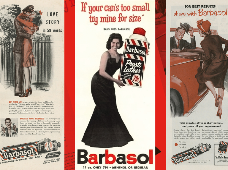 As Barbasol turns 100, we look at some vintage ads