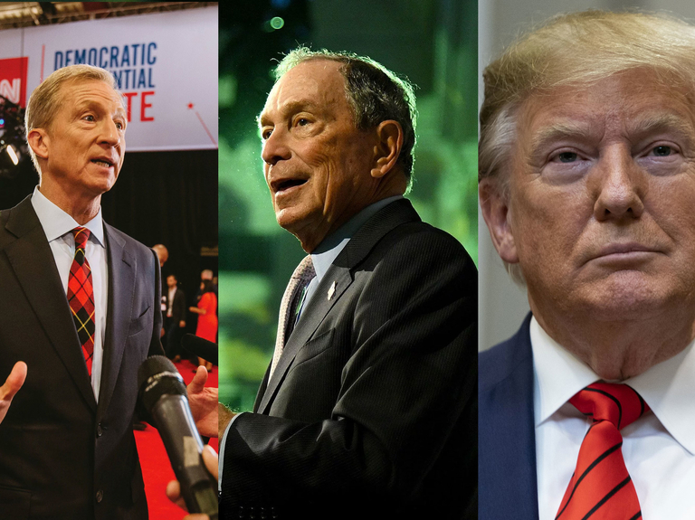 Billionaires battle over political ad burn rate in 2020 White House race