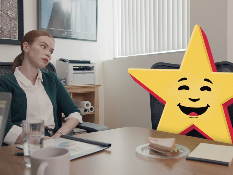 Carl's Jr. and Hardee's reunite in national ads featuring Happy Star as a brand mascot