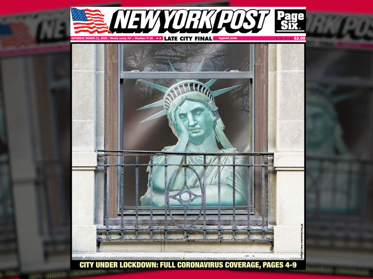 The New York Post quarantines Lady Liberty