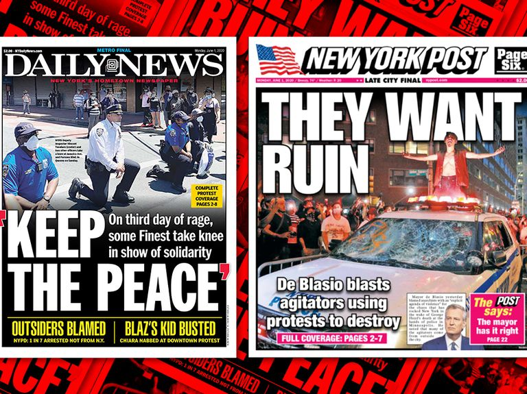 Choose your narrative: How the nation's leading tabloids are addressing the mass protests and unrest