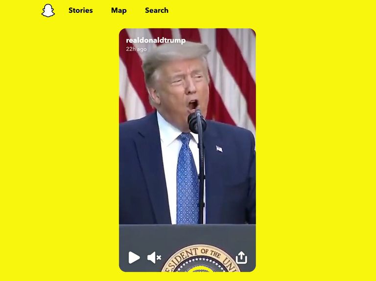 Snapchat tosses Trump from Discover, drawing advertiser praise and presidential rage