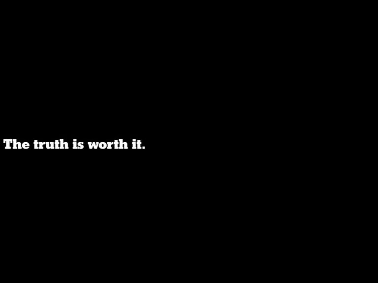 'The Truth Is Worth It' from The New York Times is a symphony of advertising craft