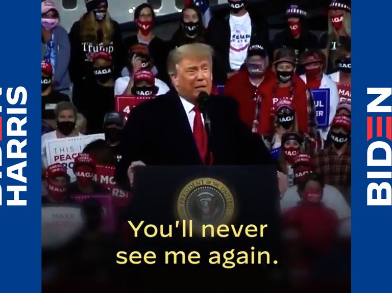 Watch the viral 10-second Biden campaign ad that Trump graciously made for him