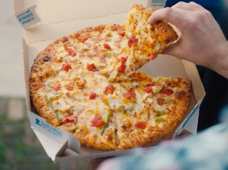 How Domino's has adapted to COVID, from carside delivery to cheeseburger pizza