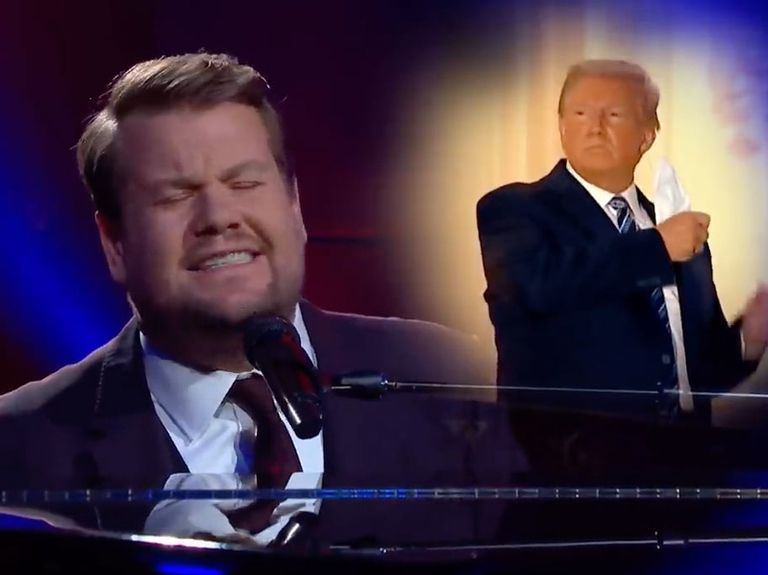'Maybe I'm Immune': Watch James Corden's Trump-inspired Paul McCartney song spoof