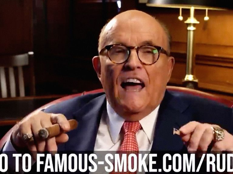 Watch Rudy Giuliani, pro bono PR man for a Philly landscaping firm, hype a cigar store in an actual commercial