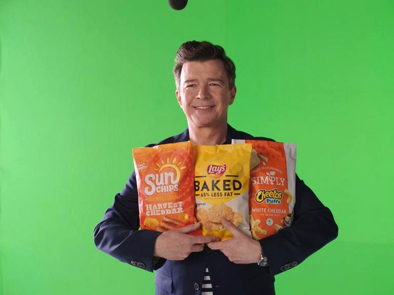 Frito-Lay snags Rick Astley for an ad—and he's never gonna give up snacks