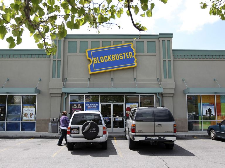 Bankrupt Blockbuster joins Reddit-inspired retail rally