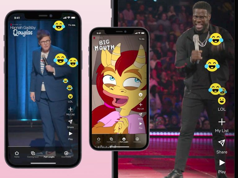 Netflix debuts TikTok-style clips feature, 'Fast Laughs'