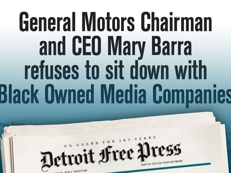 GM CEO called out by Black-owned media execs in full-page ad