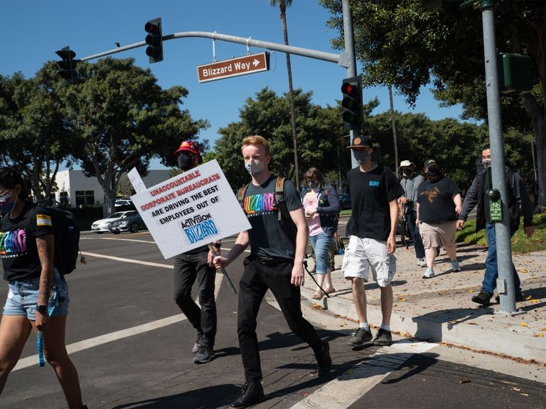 Activision Blizzard employees strike as fans call for boycott