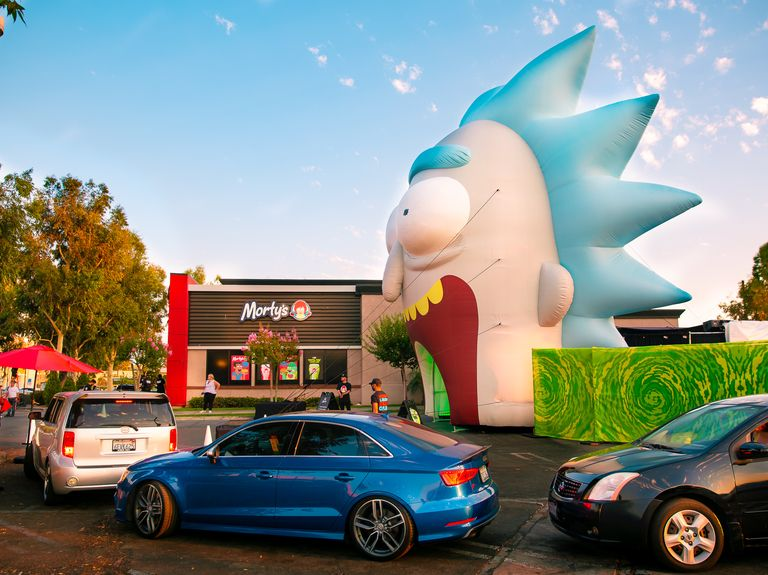 See inside 'Rick and Morty' Wendy's pop-up installation