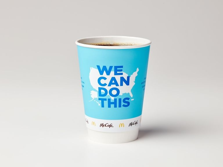 McDonald's coffee cups and Times Square billboard now part of vaccine awareness campaign from Biden administration