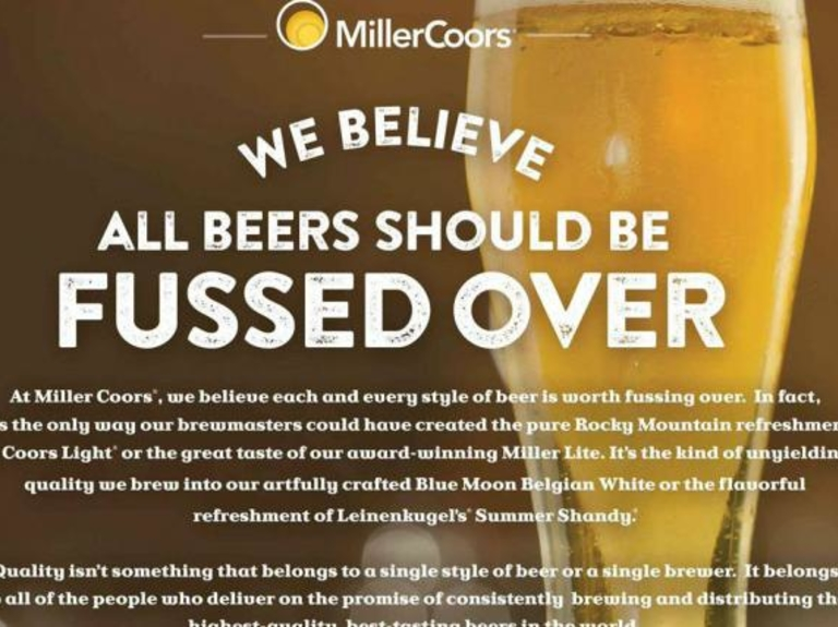 Ad Review: In Macro-Micro Battle, MillerCoors Plays the Scold