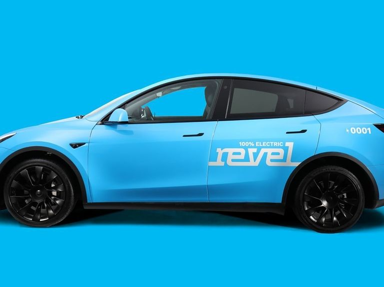 Powder blue Tesla taxis are coming to New York