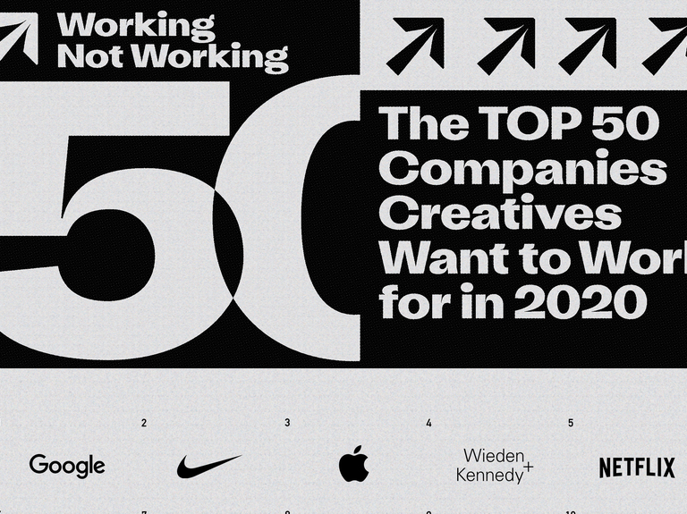 These are the top companies creatives want to work for in 2020