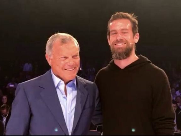 Sir Martin Grills Twitter's Jack Dorsey on Stagnant Growth, Potential for Marketers