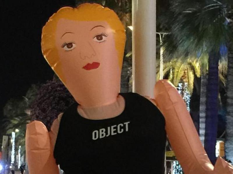 Blow-Up-Doll Protest Hits Cannes After 'Attractive Females' Party Invite. It's a Coincidence, Organizers Say