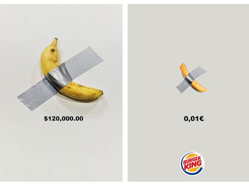 Burger King's duct-taped French fry is a cheaper option to Maurizio Cattelan's $120,000 banana