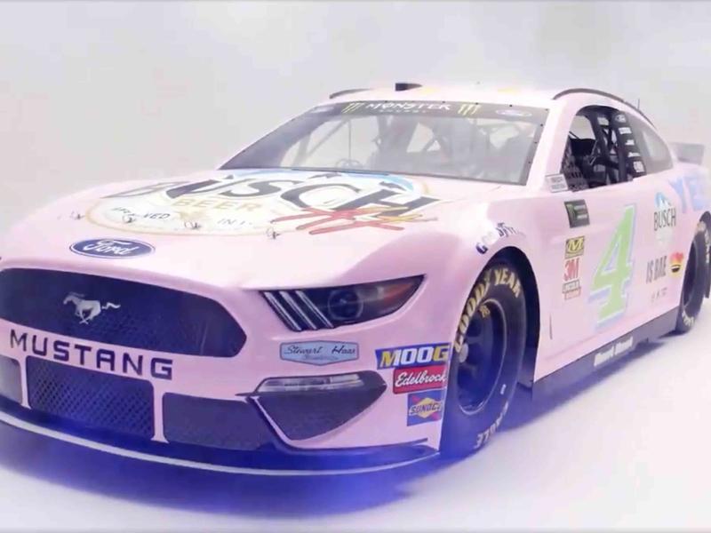 Busch Beer reveals a millennial-themed race car, and (of course) it's millennial pink