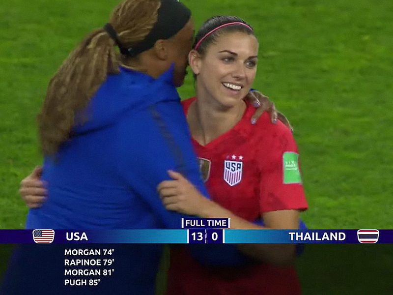 Women's World Cup ratings take a hit as U S  stomps Thailand