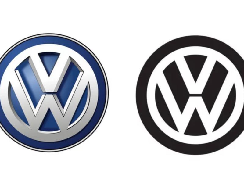 See Volkswagen's new logo