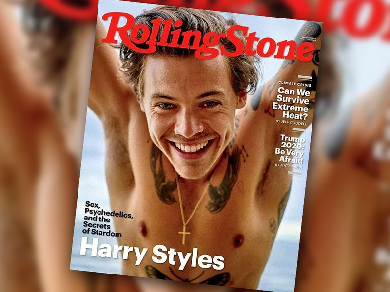 Harry Styles fronts the new Rolling Stone in a Ryan McGinley portrait