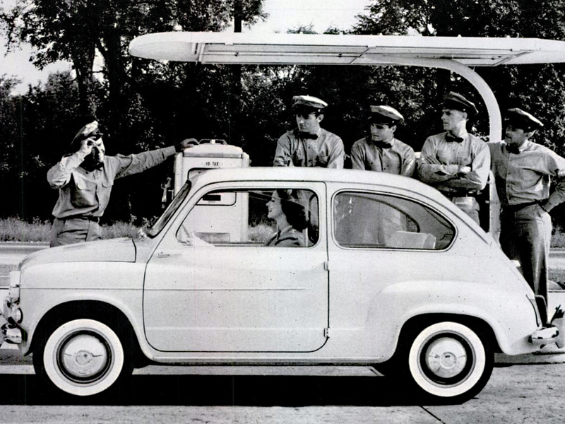 A vintage ad from 1960 reminds us when Fiat was the 'housewife's little helper'