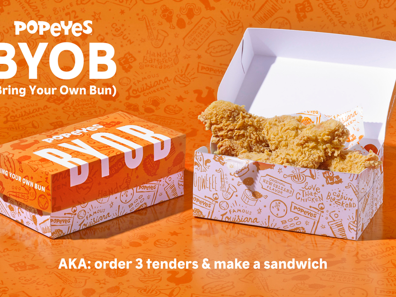 Popeyes offers a playful solution to its chicken sandwich shortage